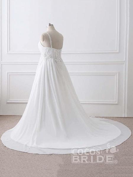 Gorgeous Spaghetti Straps A-Line Ruffles Wedding Dresses_4