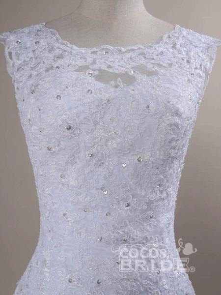 Beaded Lace Backless Mermaid  Wedding Dresses_6