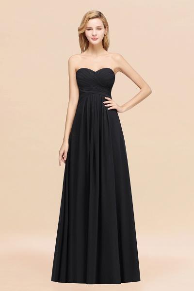 A-line Chiffon Sweetheart Strapless Ruffles Floor-length Bridesmaid Dress_29