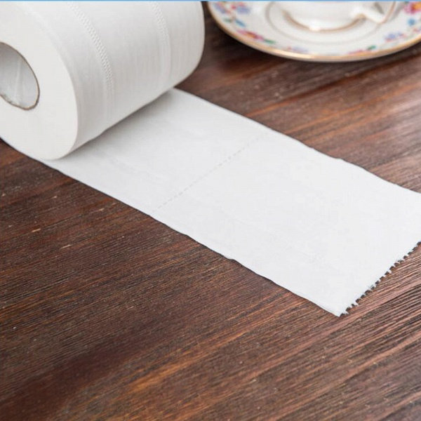 10 Roll 4ply White Toilet Paper Native Wood Pulp Tissue Hollow Replacement Roll Paper_11