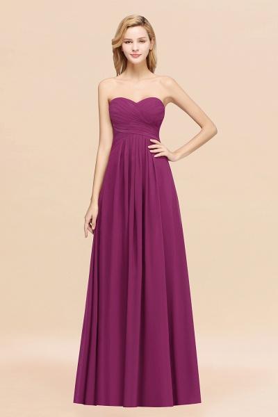 A-line Chiffon Sweetheart Strapless Ruffles Floor-length Bridesmaid Dress_42