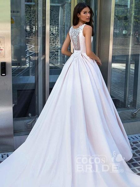 Gorgeous Sweep Train Ruffles Wedding Dresses_2