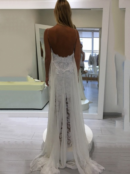 Hollie Inspiration French Lace Dresses Bohemian Wedding Dresses_1