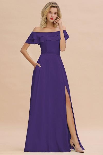 BM0775 Off-the-Shoulder Front Slit Mint Green Long Bridesmaid Dress_19