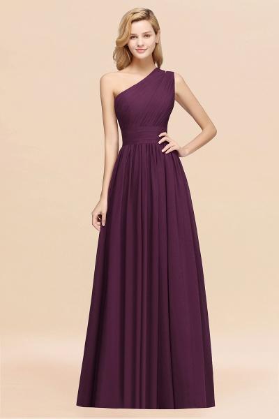 Elegant A-Line Burgundy Chiffon One-Shoulder Sleeveless Ruffles Floor-Length Bridesmaid Dresses_20