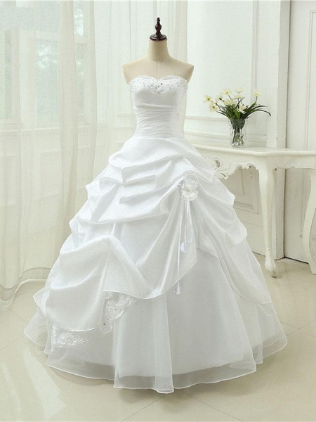 Gorgeous Sweetheart Beaded Ball Gowns Lace-Up Wedding Dresses_1