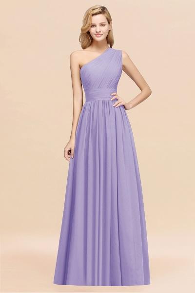Elegant A-Line Burgundy Chiffon One-Shoulder Sleeveless Ruffles Floor-Length Bridesmaid Dresses_21