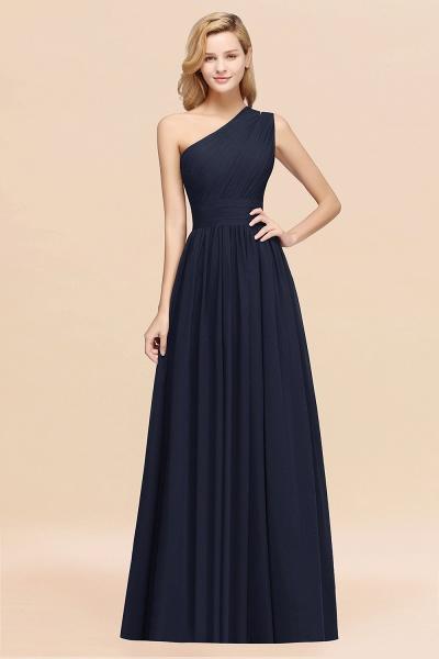 Elegant A-Line Burgundy Chiffon One-Shoulder Sleeveless Ruffles Floor-Length Bridesmaid Dresses_28