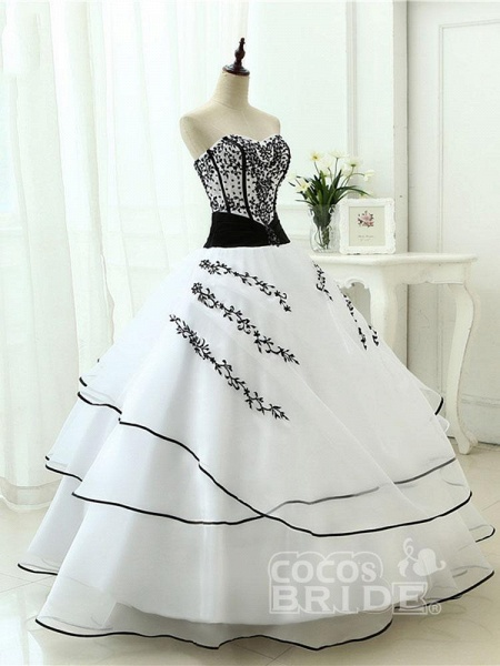 Glamorous Sweetheart Ball Gown Wedding Dresses_3