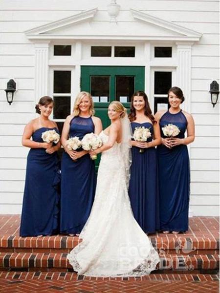 Gentle Sweetheart Sleeveless Lace Mermaid Wedding Dresses_2