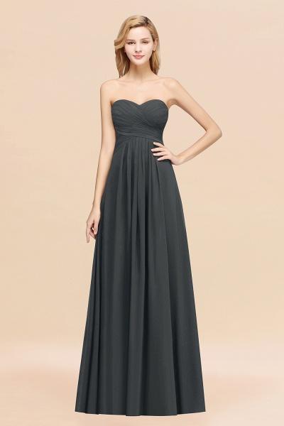 A-line Chiffon Sweetheart Strapless Ruffles Floor-length Bridesmaid Dress_46