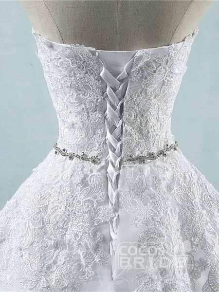 Glamorous Sweetheart Appliques Lace-UP Wedding Dresses_6
