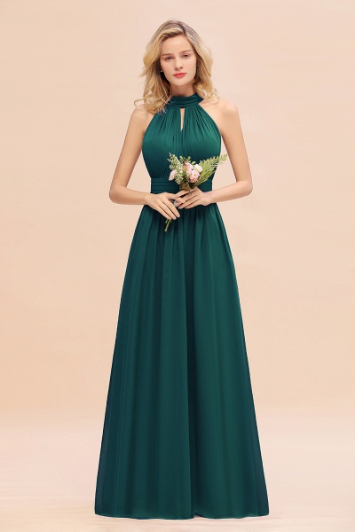 BM0758 Glamorous High-Neck Halter Bridesmaid Affordable Dresses with Ruffle_33