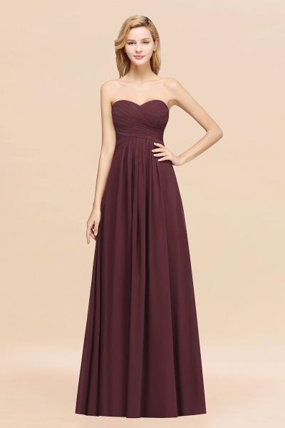 A-line Chiffon Sweetheart Strapless Ruffles Floor-length Bridesmaid Dress_47