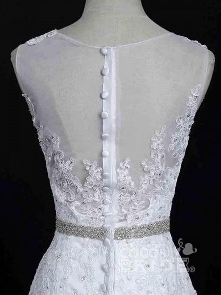 Lace Sashes Mermaid Wedding Dresses_6