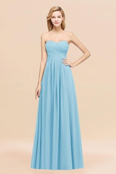 A-line Chiffon Sweetheart Strapless Ruffles Floor-length Bridesmaid Dress_23