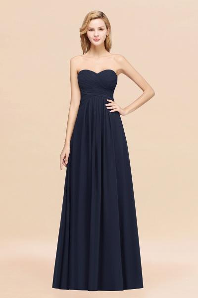 A-line Chiffon Sweetheart Strapless Ruffles Floor-length Bridesmaid Dress_28