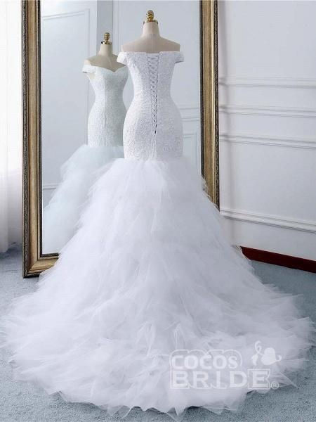 Off-the-Shoulder Mermaid Wedding Dress_3