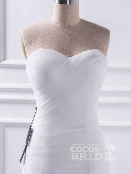 Elegant sweetheart Mermaid Tulle Wedding Dresses_4