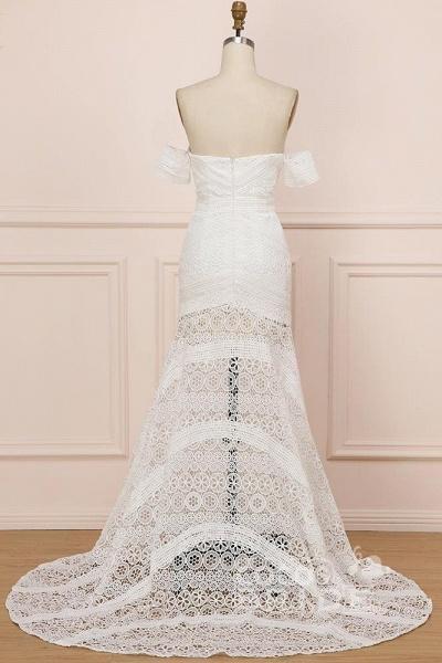 Modest Sweetheart Neck Lace Beach Sexy Boho Wedding Dress_2