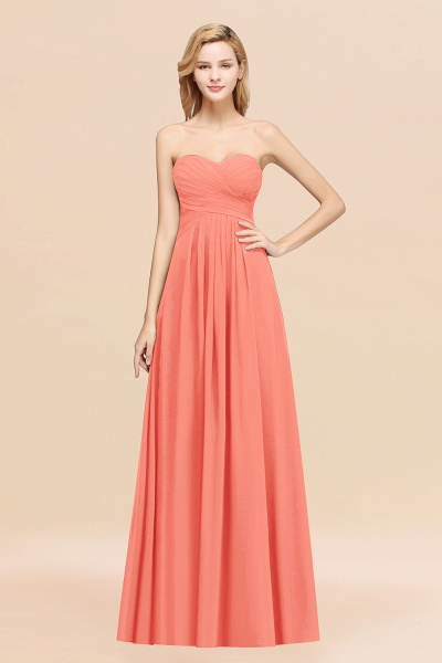 A-line Chiffon Sweetheart Strapless Ruffles Floor-length Bridesmaid Dress_45