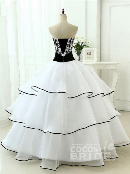 Glamorous Sweetheart Ball Gown Wedding Dresses_4