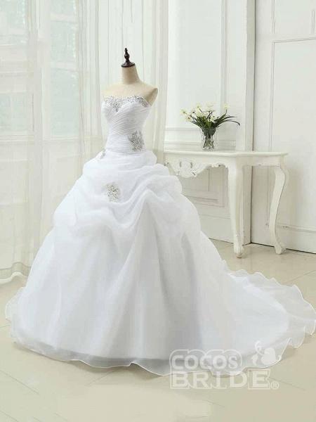Gorgeous Sweetheart Ruffles Wedding Dresses_2