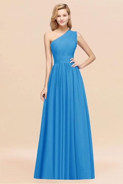 Elegant A-Line Burgundy Chiffon One-Shoulder Sleeveless Ruffles Floor-Length Bridesmaid Dresses_25