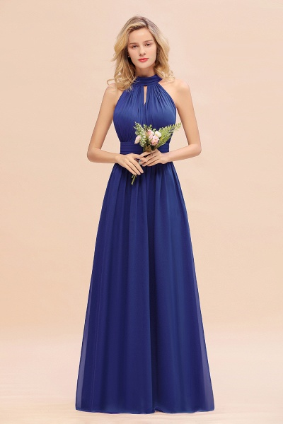BM0758 Glamorous High-Neck Halter Bridesmaid Affordable Dresses with Ruffle_26