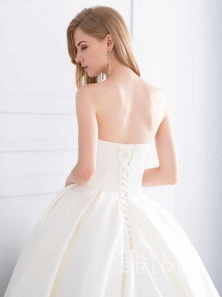 Sweetheart Ball Gown Ruffles Wedding Dresses_6