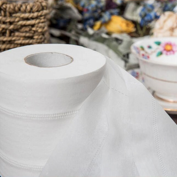 10 Roll 4ply White Toilet Paper Native Wood Pulp Tissue Hollow Replacement Roll Paper_9