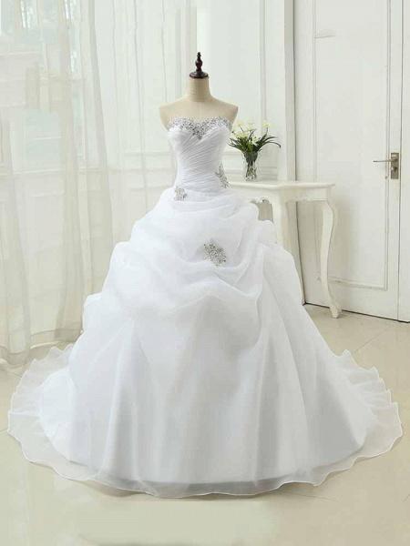 Gorgeous Sweetheart Ruffles Wedding Dresses_1