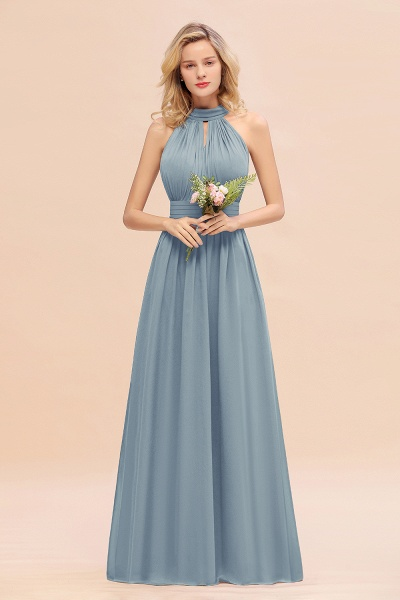 BM0758 Glamorous High-Neck Halter Bridesmaid Affordable Dresses with Ruffle_40