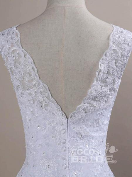 Beaded Lace Backless Mermaid  Wedding Dresses_5