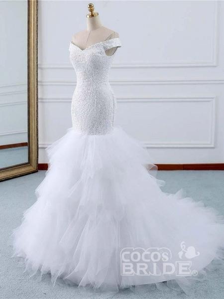 Off-the-Shoulder Mermaid Wedding Dress_2