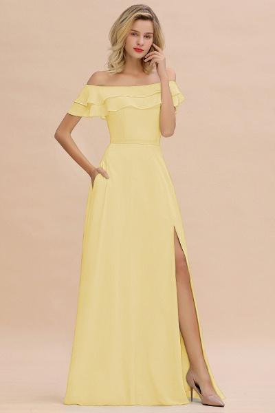 BM0775 Off-the-Shoulder Front Slit Mint Green Long Bridesmaid Dress_18