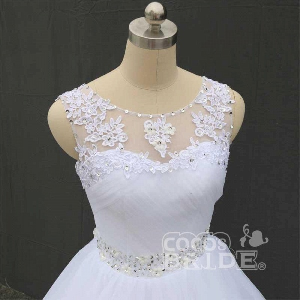 Gorgeous Lace Up Ball Gown Wedding Dresses_5