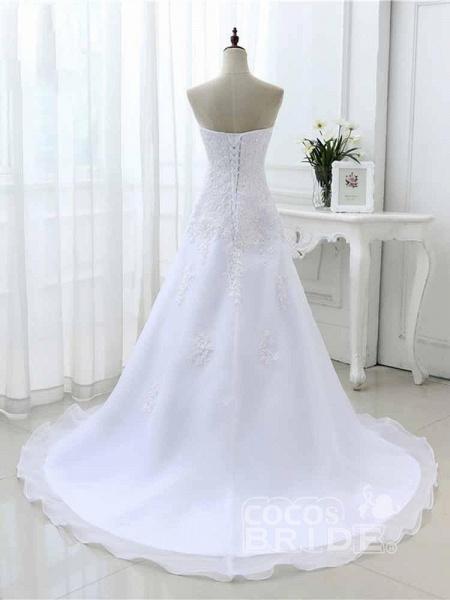 Elegant Sweetheart Lace-Up Mermaid A-Line Wedding Dresses_2