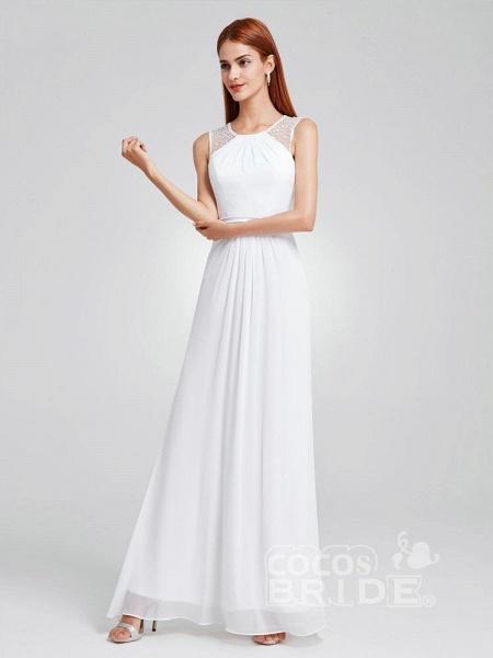 Elegant Ruffles Chiffon Floor Length Wedding Dresses_4