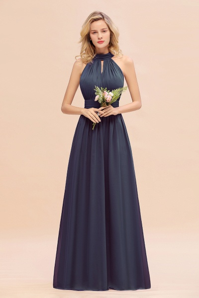 BM0758 Glamorous High-Neck Halter Bridesmaid Affordable Dresses with Ruffle_39
