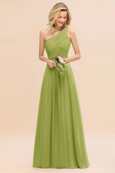 BM0756 Elegant Ruffles One Shoulder Long Bridesmaid Dress_34