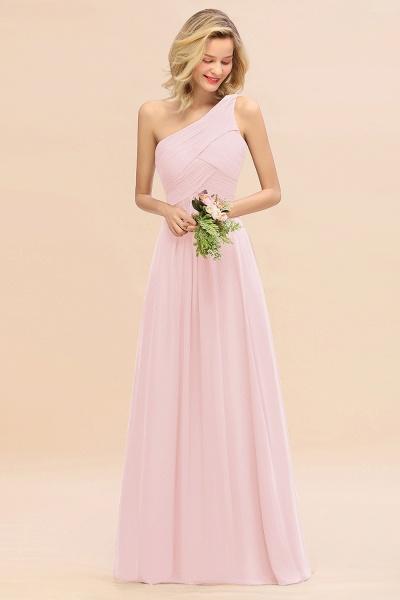 BM0756 Elegant Ruffles One Shoulder Long Bridesmaid Dress_3