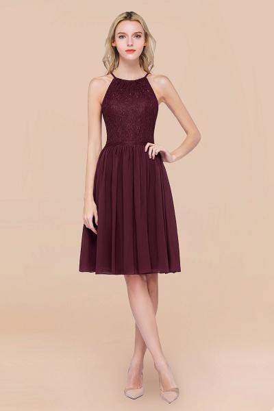 A-line Chiffon Lace Jewel Sleeveless Knee-Length Bridesmaid Dresses with Ruffles_47