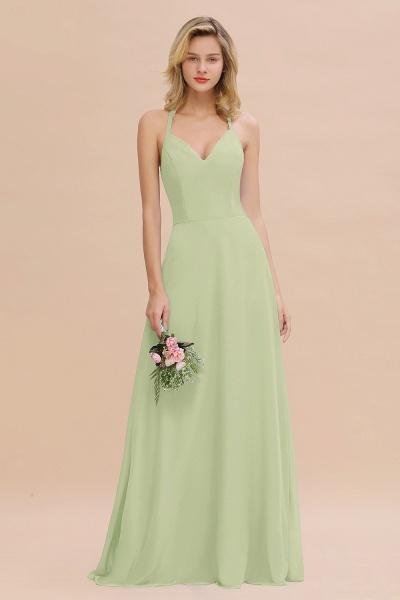 BM0779 Stylish Chiffon Spaghetti Straps Sleeveless Long Bridesmaid Dress_35