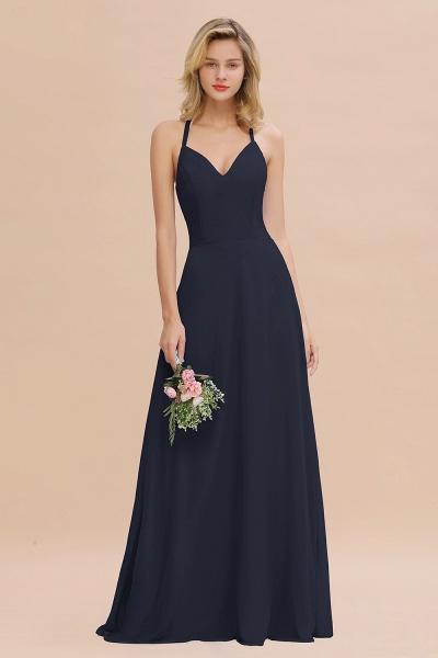 BM0779 Stylish Chiffon Spaghetti Straps Sleeveless Long Bridesmaid Dress_28