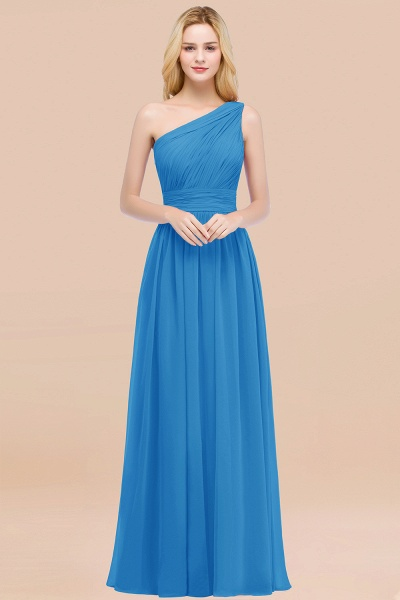 Elegant A-Line Chiffon One-Shoulder Sleeveless Ruffles Floor-Length Bridesmaid Dresses_25