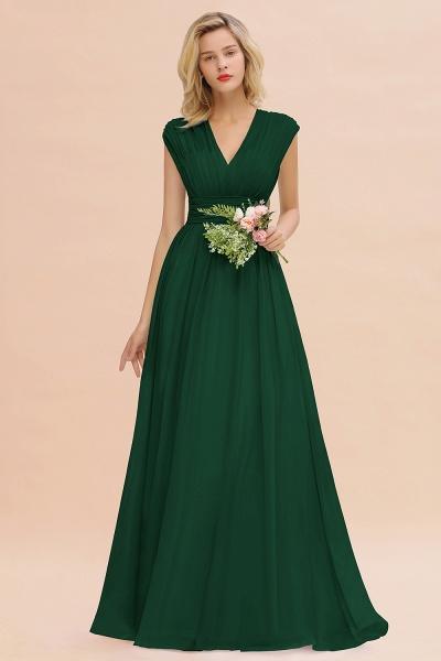BM0774 Chiffon V-Neck Sleeveless Elegant A-line Ruffles Bridesmaid Dress_31
