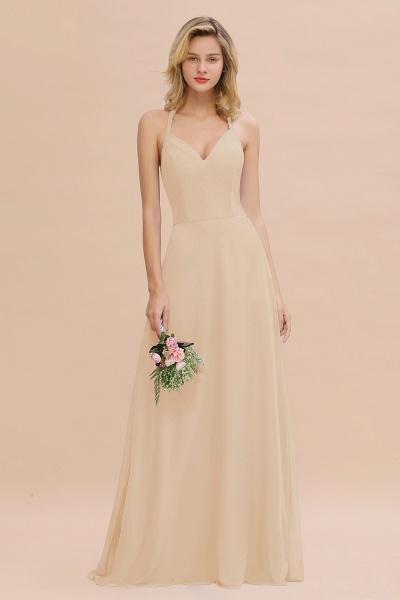 BM0779 Stylish Chiffon Spaghetti Straps Sleeveless Long Bridesmaid Dress_14