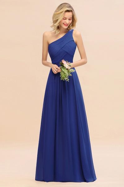 BM0756 Elegant Ruffles One Shoulder Long Bridesmaid Dress_26