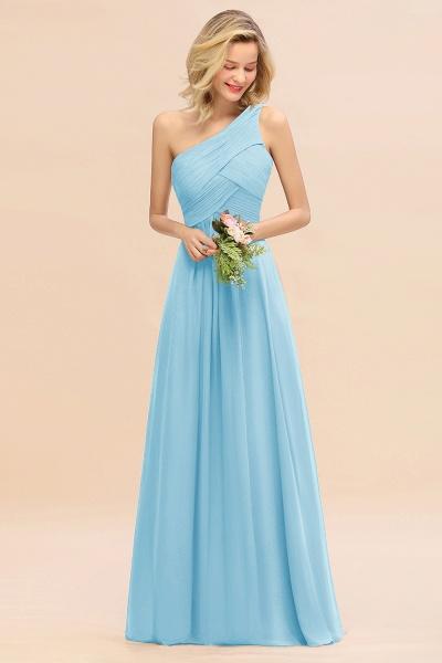 BM0756 Elegant Ruffles One Shoulder Long Bridesmaid Dress_23